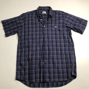 Lacoste Casual Button Down Short Sleeve Shirt
